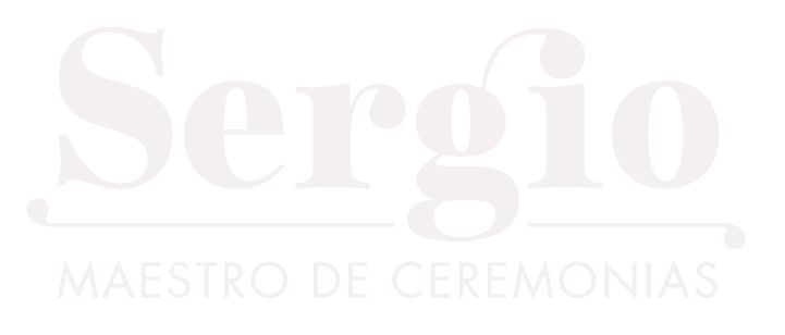 Logotipo en blanco de Sergio | maestro de ceremonias
